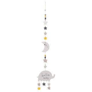 Nursery Hanging Plaque - Hello Baby
