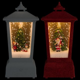 Light Up Christmas Snow Lantern - Red