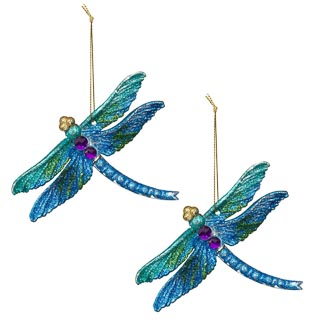 Acrylic Hanging Dragonfly 2pk - Blue