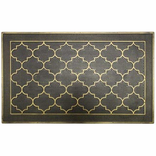 Metallic Rubber Doormat - Gold