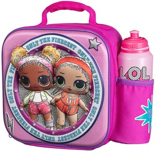 3D Lunch Bag with Bottle Bag - L.O.L. Surprise!