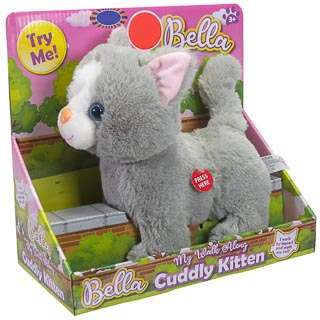 Walk Along Cuddly Kitten - Grey