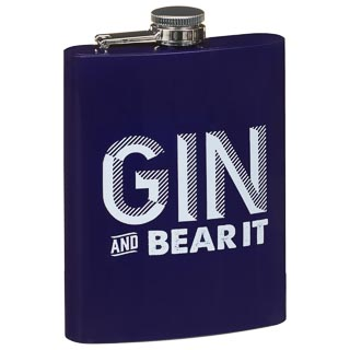 Slogan Print Hip Flask