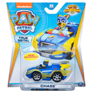 Paw Patrol Mighty Pups Super Paws Diecast Car - Chase