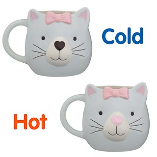 3D Heat Changing Mug - Cat