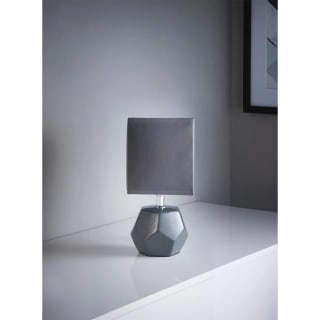 Emily Geo Table Lamp - Grey