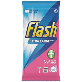 Flash Extra Large Wipes 72pk - Blossom & Breeze