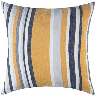 Chenille Stripe Cushion - Ochre
