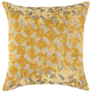 Radcliffe Double Sided Velvet Cushion - Ochre