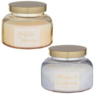 Pearlised Large Fragranced Candle - Golden Mimosa