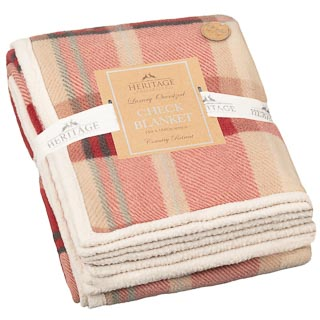 Luxury Oversized Check Blanket - Red