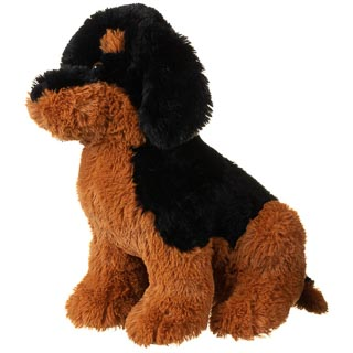 Max the Cuddly Puppy - Brown & Black