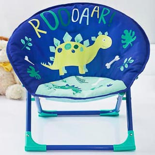 Kids Folding Moon Chair - Dino