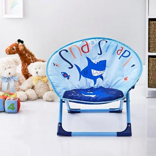 Kids Folding Moon Chair - Shark