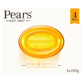 Pears Transparent Soap Bars 4pk