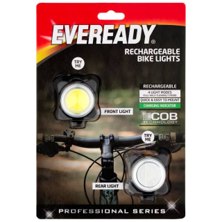 Eveready Rechargeable Bike Lights 2pk