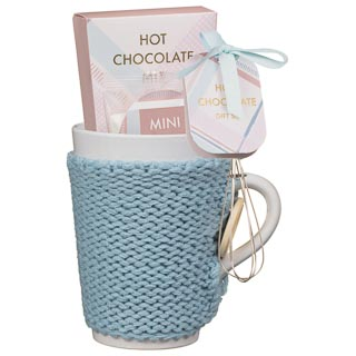 Hot Chocolate Cosy Mug Set - Blue