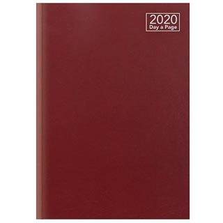 2020 Day A Page A5 Diary - Red