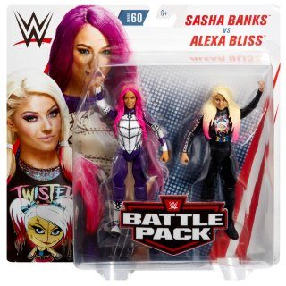 WWE Sasha Banks vs Alexa Bliss Battle Pack Action Figures 2pk