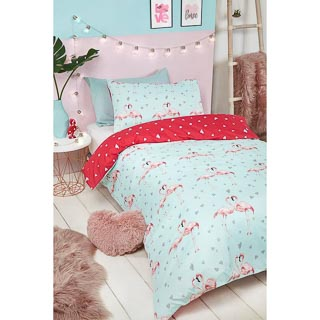 Kids Fashion Single Duvet Set - Flamingo