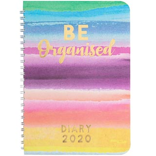 12 Month Spiral Planner Diary 2020 - Watercolour