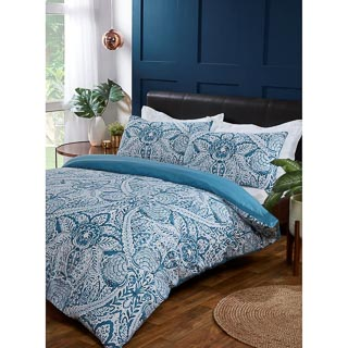 Paisley Double Duvet Set - Teal