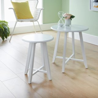 Larson Set of 2 Tables - White