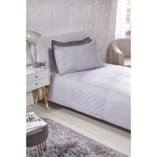 Geo Pinsonic Single Duvet Set - Silver