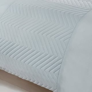 Zig Zag Pinsonic King Duvet Set - Duck Egg