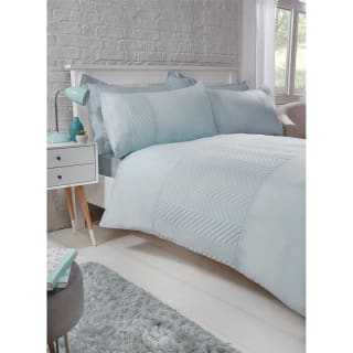 Zig Zag Pinsonic Double Duvet Set - Duck Egg