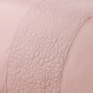 Floral Pinsonic King Duvet Set - Blush
