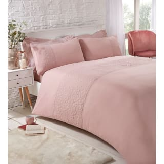 Floral Pinsonic Double Duvet Set - Blush
