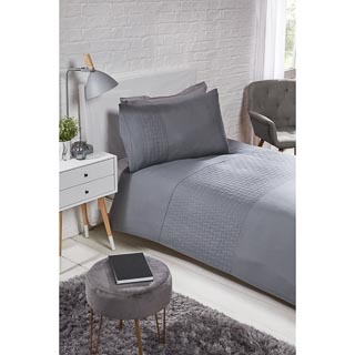 Layers Pinsonic Single Duvet Set - Charcoal