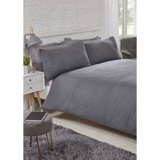 Layers Pinsonic Double Duvet Set - Charcoal