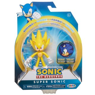"Super Sonic 4"" Bendable Action Figure"