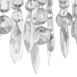 Plush Crystal Droplet Lamp Shade - Grey