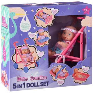 Little Bundles 5-in-1 Doll Set
