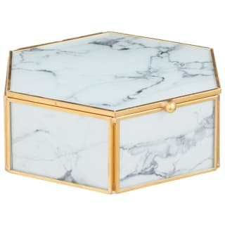 Marble Effect Hexagon Box