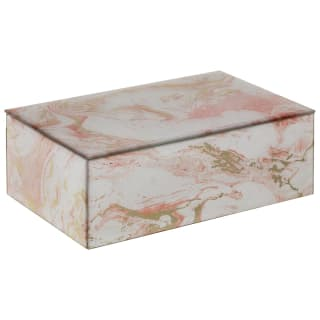 Marble Effect Jewellery Box - Pink