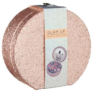 Glam Up Cosmetic Vanity Case - Rose Gold