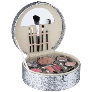 Glam Up Cosmetic Vanity Case - Silver