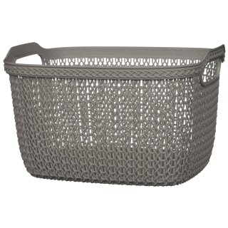 Knit Effect Large Storage Basket