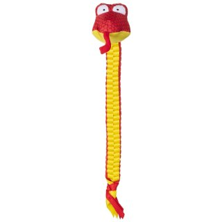 Mighty Python Tugging Dog Toy - Yellow