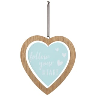 Heart Wooden Hanging Plaque - Follow Your Heart