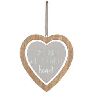 Heart Wooden Hanging Plaque - Heart