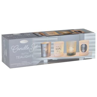 Candle Tealight Set - Silver