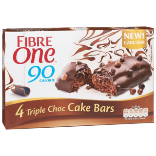 Fibre One Triple Chocolate Cake Bars 4pk