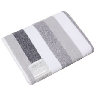 Newbury Stripe Bath Towel - Grey