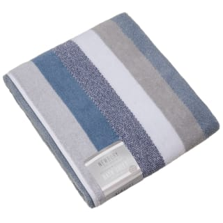 Newbury Stripe Bath Sheet - Blue