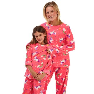 Just Like You Kids Neon Unicorn Pyjamas